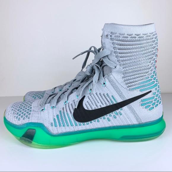 2d8732213638 Nike Kobe X 10 Elite Elevate Grey green Flyknit